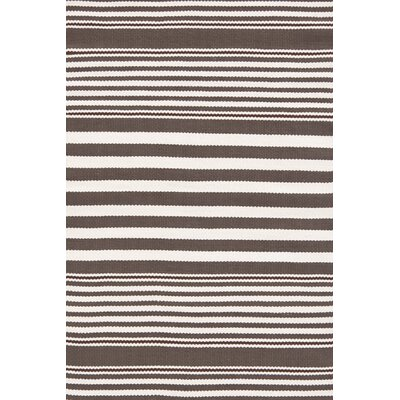 Dash and Albert Rugs Beckham Indoor/Outdoor Charcoal Striped Rug
