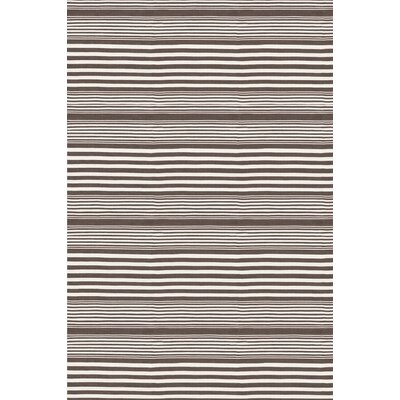 Indoor/Outdoor Rugby Charcoal Striped Rug