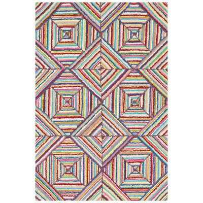 Cotton Micro-Hooked Kaledo Bright Rug