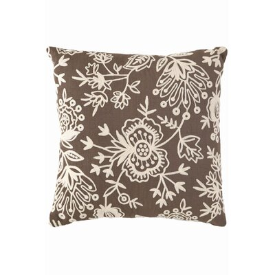 Fresh American Floral Crewel Polypropylene Pillow