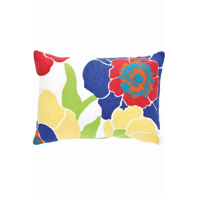 Dash and Albert Rugs Fresh American Poppy Polypropylene Pillow