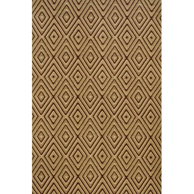 Dash and Albert Rugs Woven Diamond Brown/Khaki Indoor/Outdoor Rug