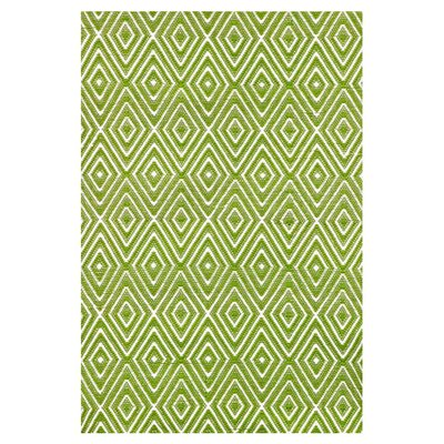 Dash and Albert Rugs Woven Diamond Sprout/White Indoor/Outdoor Rug