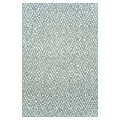Dash and Albert Rugs Woven Diamond Light Blue/Ivory Rug