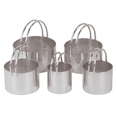 5 Piece Round Cookie Cutter Set