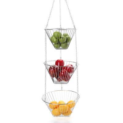 Fox Run Craftsmen Hanging Fruit Basket or Fruit Bowl 3 Piece Set