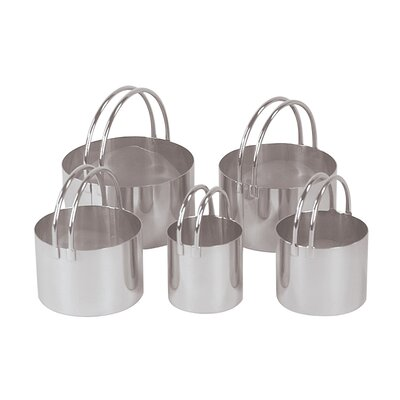 Fox Run Craftsmen 5-Piece Round Cookie Cutter Set