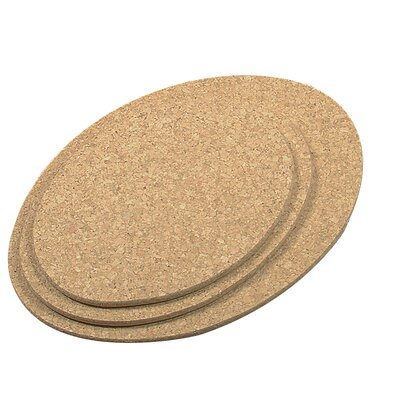 Fox Run Craftsmen 3-Piece Oval Cork Trivet Set