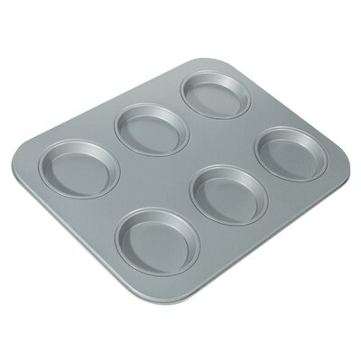 Fox Run Craftsmen Non-Stick 6 Cup Large Shallow Muffin Pan