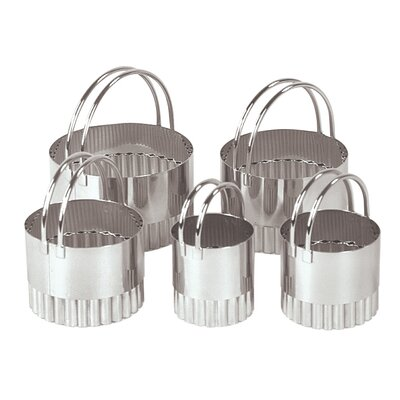 Fox Run Craftsmen Five Piece Fluted Round Cookie Cutter Set