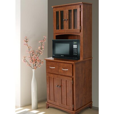 Hazelwood Home Oak Hills Microwave Cart