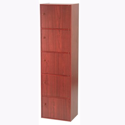 Hazelwood Home Five Door Utility Cabinet in Mahogany