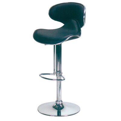 "Hazelwood Home Hazelwood Home 20"" Adjustable Faux Leather Bar Stool"