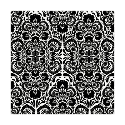 Kreme LLC Handcrafted Folk Damask Wallpaper