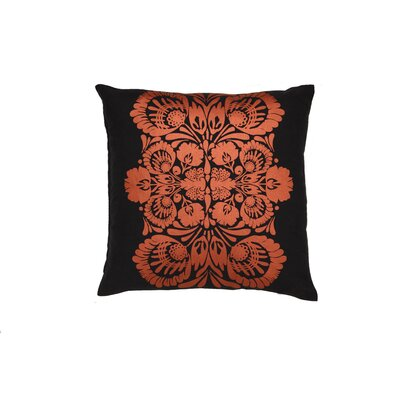 Kreme Screen Print Folk Flower Pillow