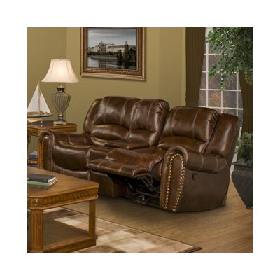 Motion Neptune Leather Loveseat