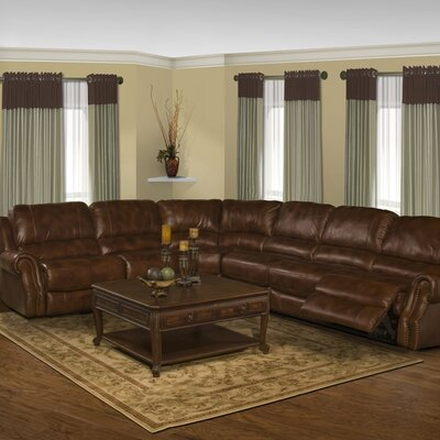 Motion Zeus Leather Reclining Sectional