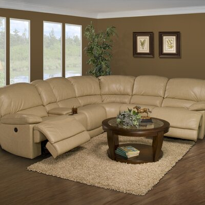 Motion Mars Leather Reclining Sectional