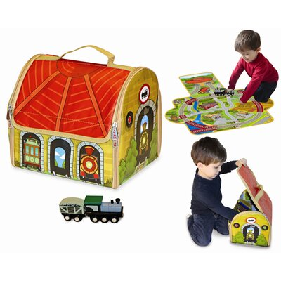 ZipBin Train Depot Play Set