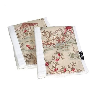 Reese Li Animal Fair Burp Cloth Set
