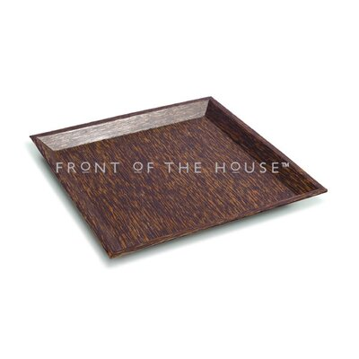 "Front Of The House Palm 12"" Square Wood Plate"