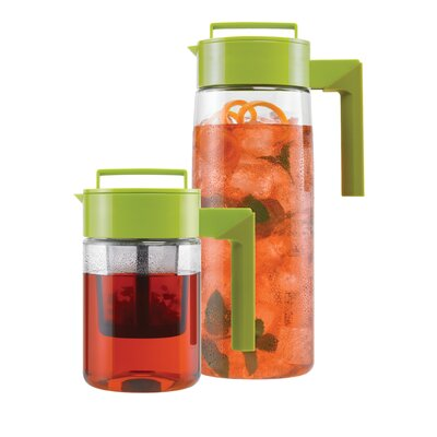 Takeya 24 Oz Flash Chill Iced Tea Maker and 66 Oz Pitcher with Silicone Handle ...
