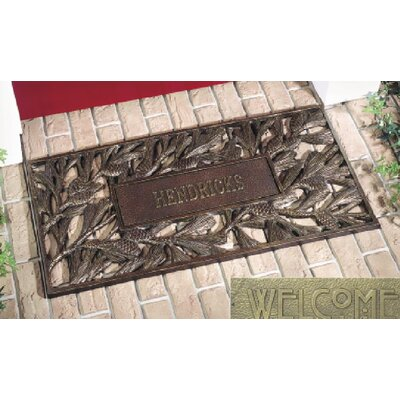 Whitehall Products Personalized Pinecone Mat