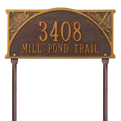 Whitehall Products Dragonfly Standard Address Sign