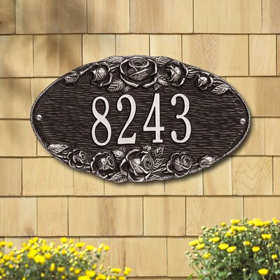 Whitehall Products Rose Standard Wall Address Plaque