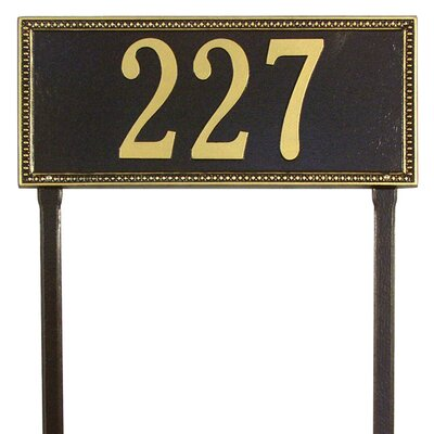 Whitehall Products Egg and Dart Estate Lawn Address Plaque