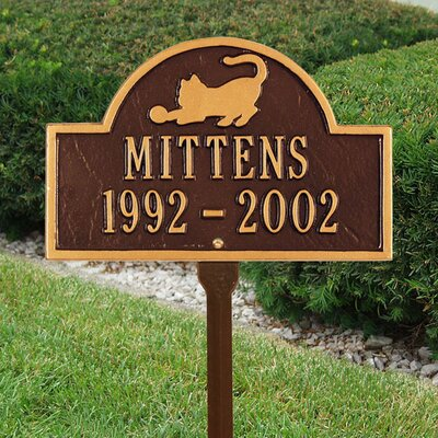 Whitehall Products Cat Memorial Lawn Plaque