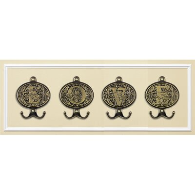 Whitehall Products Monogram Wall Hook Plaque