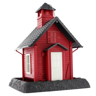 North States Lil' Red School House Village Collection Bird Feeder
