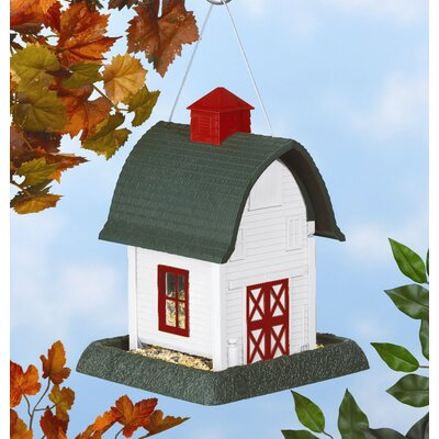 North States Small White Barn Bird Feeder