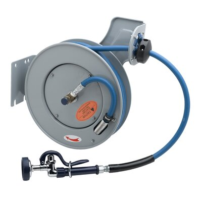 T&S Brass Open Hose Reel Epoxy Coated Steel