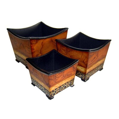Cheungs Square Tapered Planters (Set of 3)