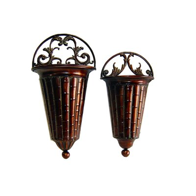 Cheungs Rattan Wall Planters (Set of 2)