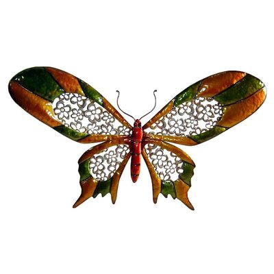 "Cheungs 28.25"" Wide Butterfly Wall Art in Multicolor"