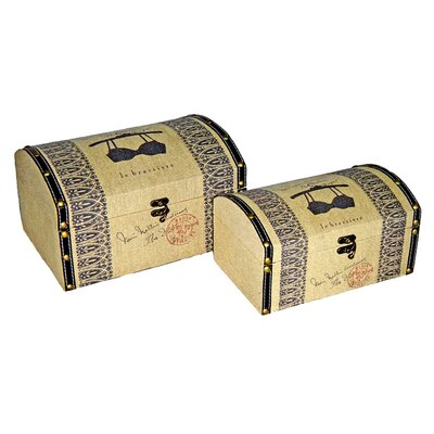 Cheungs Brassiere Print Box with Rounded Top (Set of 2)