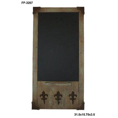 "Cheungs Fleur De Lis Hooks 2' 7.5"" x 1' 3.75"" Chalkboard"