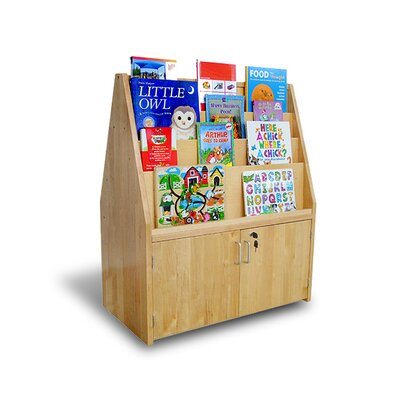 "A+ Child Supply Double Sided Birch 42"" Book Display and Cabinet"
