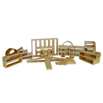 A+ Child Supply Wooden Hollow Blocks