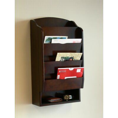 Proman Products Door Entry Organizer with Mail Sorter in Dark Walnut