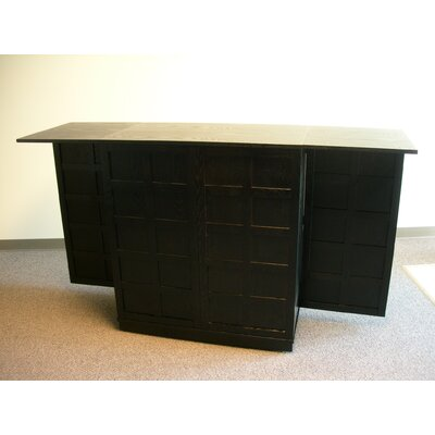 Proman Products Steamer Trunk Bar Cabinet in Ebony