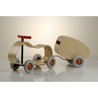 Sibi Max Push Car and Lorette Trailer Set