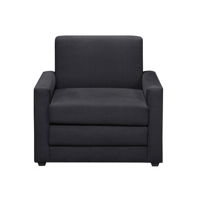 DHP Single Sleeper Chair in Rich Black