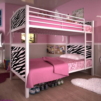DHP Twin over Twin Bunk Bed with Built-In Ladder