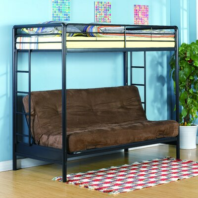 DHP Twin over Futon Low Loft Bed with Built-In Ladder