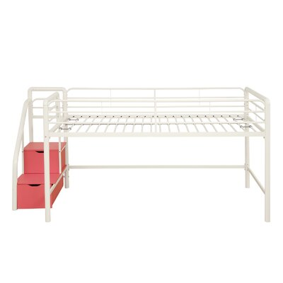 DHP Junior Twin Loft Bed with Storage Steps