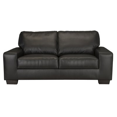 World Class Furniture Brevia Leather Loveseat